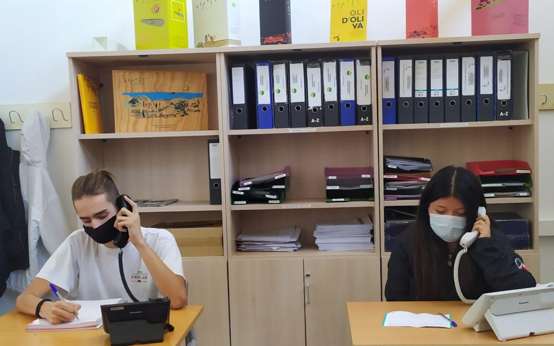 Atenció telefònica a 1r de CFGM Gestió Adminsitrativa