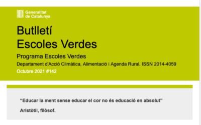 Butlletí e-Escoles Verdes Octubre 2021#142